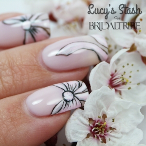 Bow nail art with OPI Don't Burst My Bubble LRG 3